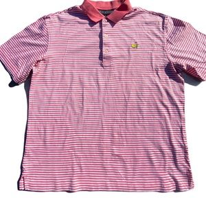 Masters Collection Pink Striped Golf Polo